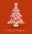 Christmas greeting card icons and symbols vector image