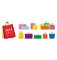 colorful shopping bags set vector image