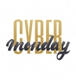 Cyber monday hand-lettering text Handmade vector image