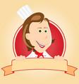 food banner - chef woman vector image