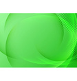 Green background with transparent waves vector image