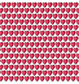 red gemstone heart background pattern on white vector image