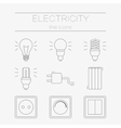 set of electricity icons including tools vector image