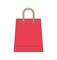 trapezoid shopping bag icon with handle in vector image