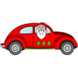 Santa Claus in Car vector image vector image