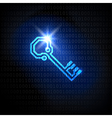 The key and binary code password concept vector image