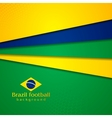 Abstract background in Brazilian colors vector image