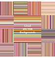 Autumn colors lined pattern vector image vector image