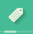 label Symbol label for clothing or goods vector image