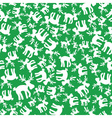 christmas reindeer green and white pattern eps10 vector image