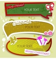 merry christmas speech bubbles vector image vector image