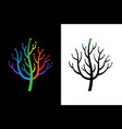 abstract growing arrow tree that symbolizes vector image