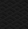 Black textured plastic corners in row vector image