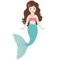 Brunette Mermaid vector image
