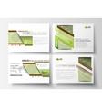 Business templates presentation slides Easy vector image