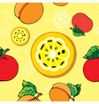 Fruit pattern print vector image