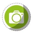 photographic camera button thumbnail icon image vector image