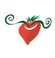 red berry with mood vector image