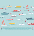 sea transport poster design - boats and ships vector image