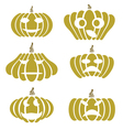 silhouettes of pumpkin vector image