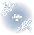 Snowflake icon Merry Christmas design vector image