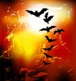 Halloween background - flying bats vector image vector image