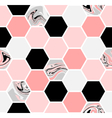 Hexagon seamless pattern vector
