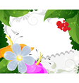 Wild flowers and ripe berries vector image