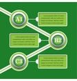 green infographic banners - design templates vector image