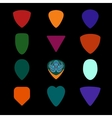 Guitar picks Different types of musical plectrum vector image