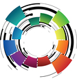 abstract coloured ring vector image