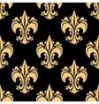 Golden victorian fleur-de-lis seamless pattern vector image