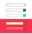Search bar set interface elements with vector image