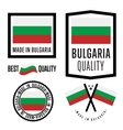 Made in Bulgaria label set vector image