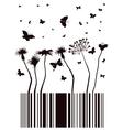 barcode garden vector image