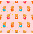 cute seamless pattern with little tigers children vector image