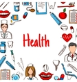 Dentistry and healthcare banner sketch style vector image
