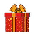 giftbox present holiday icon vector image