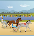 harness racing flat composition vector image