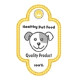 Healthy Pet Food label vector image