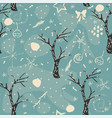 seamless winter pattern with hand drawn bear vector image