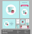 set of corporate style restaurant or confectionery vector image