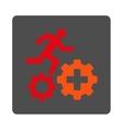 Treatment Process Flat Button vector image