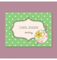 Vintage business card for knitting vector image vector image
