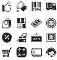 Shopping online silhouette icons vector image