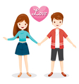Man And Woman Clasping Hands vector image
