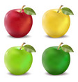 Red and green apples set photo-realistic vector image