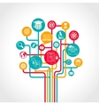 Online Education Tree vector image