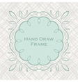 Set of hand draw calligraphic floral design vector image vector image