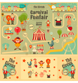 Circus Funfair and Carnival Poster vector image